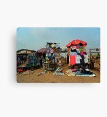 Street Shops Lagos 4 Canvas Print