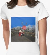 HAPPY HOLIDAYS-STAY SAFE-DON'T TEXT & DRIVE-DON'T DRINK & DRIVE-DON'T SPEED--VARIOUS APPAREL.. Womens Fitted T-Shirt