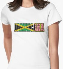 Abstraq Inc: JamaicAKA Women's Fitted T-Shirt