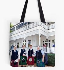 Men in Kilts at Whepstead Manor Open Day Tote Bag