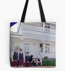 Redlands Sporting Club Pipe Band at Whepstead Manor  Tote Bag