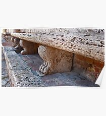 Stone Benches Poster