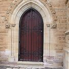 Chapel Door by Judy Woodman