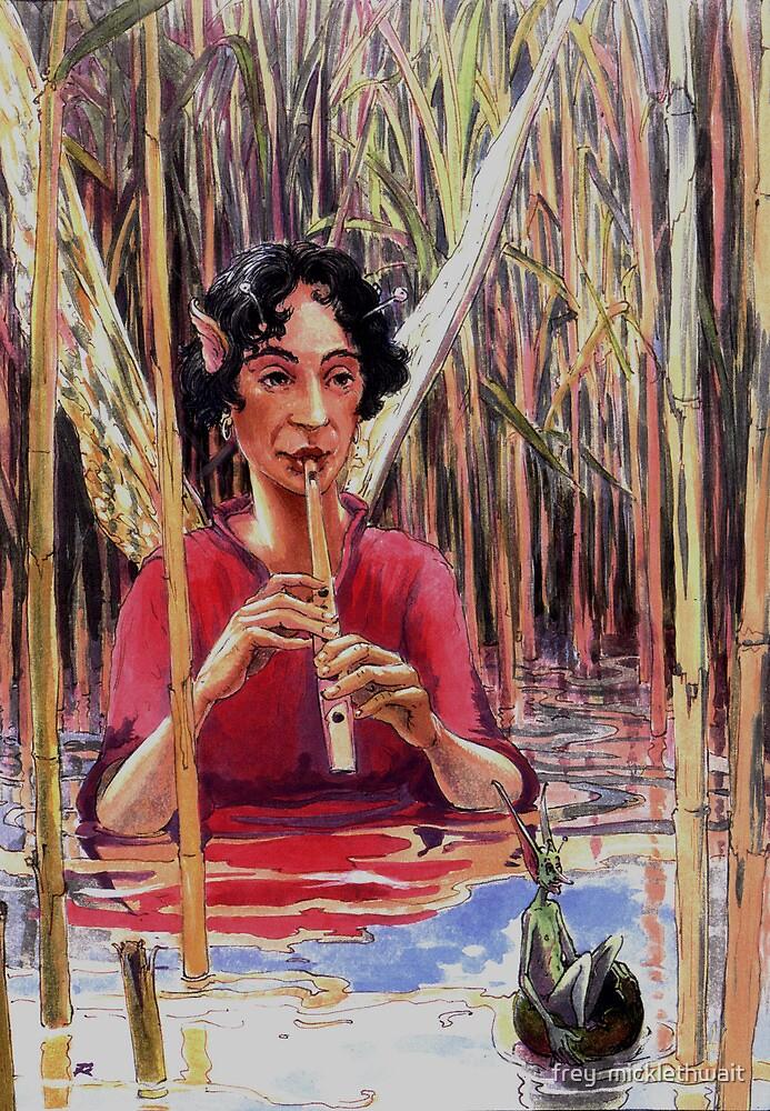 water side scene by frey  micklethwait