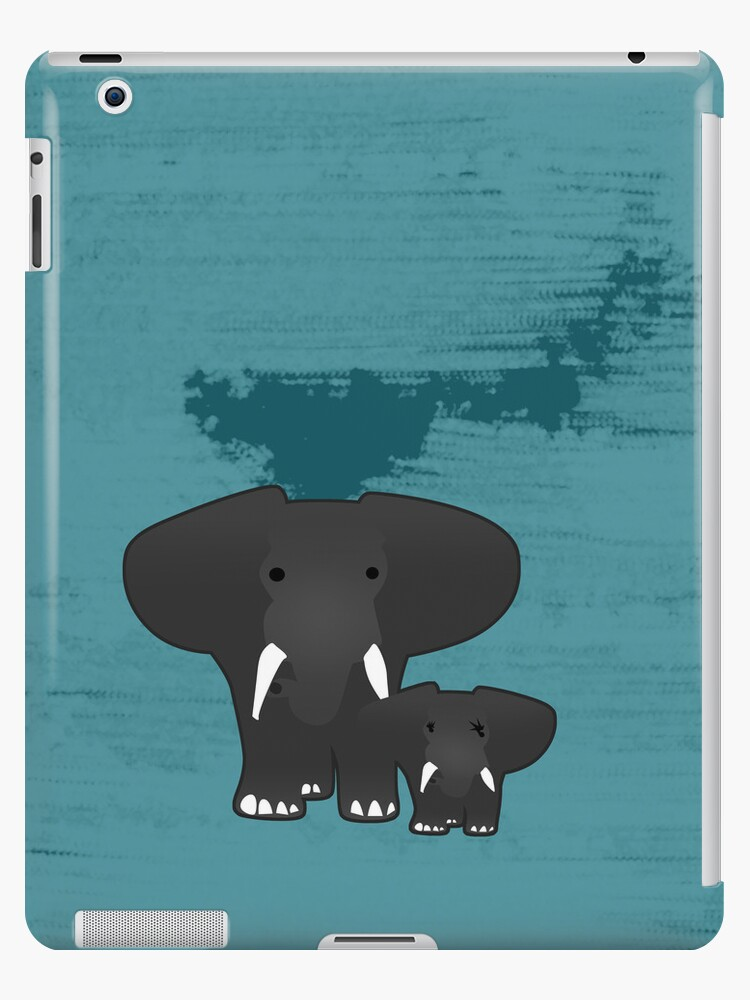 Elephant with a baby by CatchyLittleArt