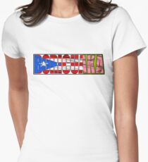 Abstraq Inc: BoricuAKA (Puerto Rico) Women's Fitted T-Shirt