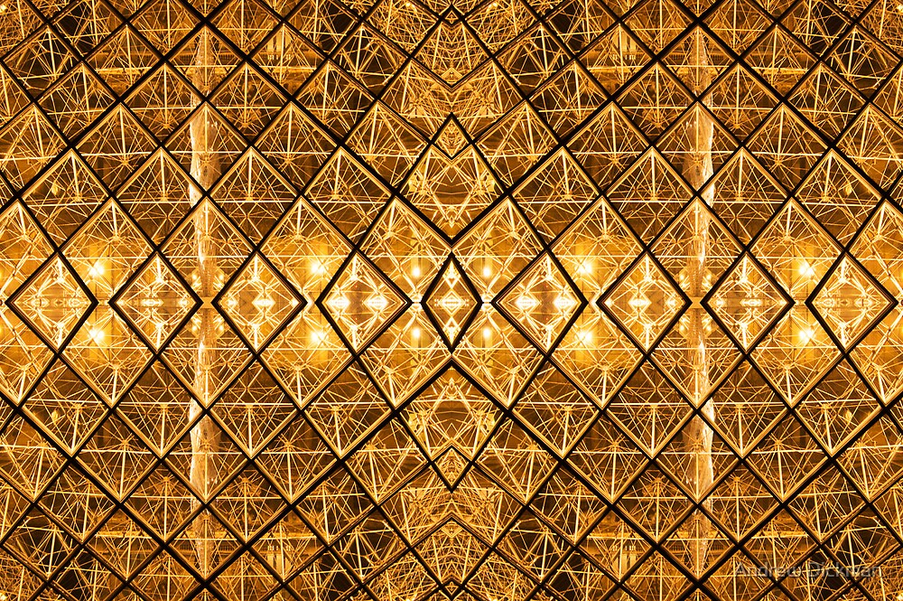 Louvre abstract by Andrew Dickman