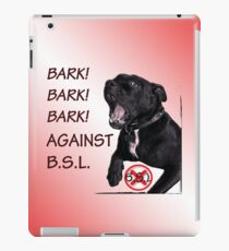 Bark Against BSL iPad Case/Skin