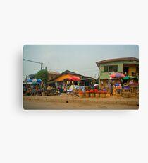 Street Shops  Lagos 1 Canvas Print