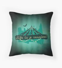 Life is a Carnivale! Throw Pillow