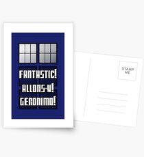 Fantastic! Allons-y! Geronimo! Postcards