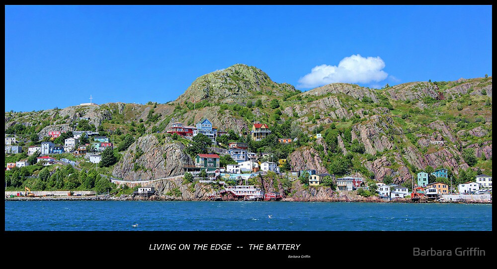 Living on the Edge - The Battery - St. John's, NL by Barbara Griffin