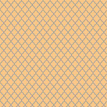 Orange Trellis Pattern by abigailnicole04