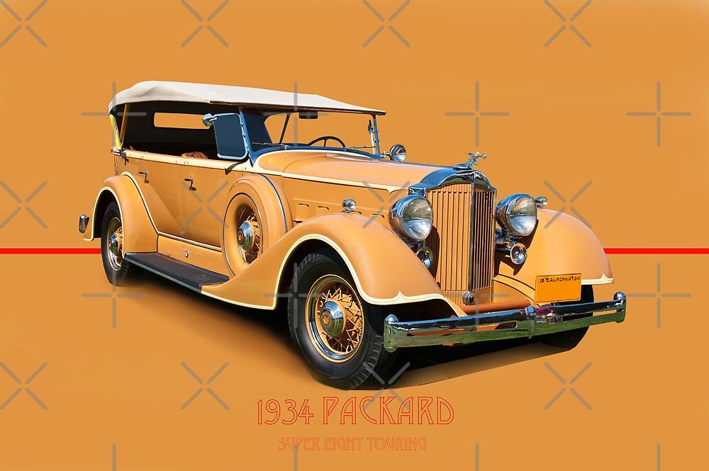 1934 Packard Touring Super Eight w/ID by DaveKoontz