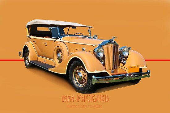 1934 Packard Touring Super Eight w/ID by DaveKoontz