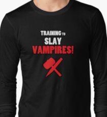 Training to Slay Vampires! Long Sleeve T-Shirt