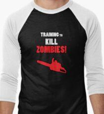 Training to Kill Zombies! Men's Baseball ¾ T-Shirt