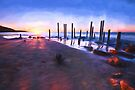 Port Willunga Sunset (GO1) by Raymond Warren