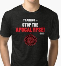 The Winchesters - Training to Stop the Apocalypse! Tri-blend T-Shirt