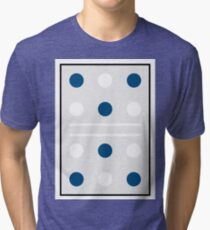 Polka Dot Blue Tri-blend T-Shirt