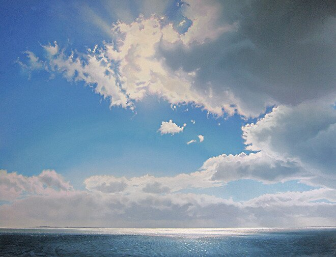 Ocean With Clouds In Backlight:  by Janhendrik Dolsma