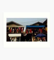 Street Shops Lagos  3 Art Print