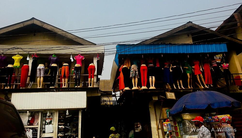 Street Shops Lagos  3 by Warren. A. Williams