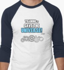 The Doctor - Training to Save the Universe! Men's Baseball ¾ T-Shirt