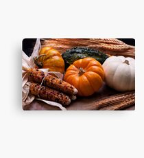 Fall Table Canvas Print