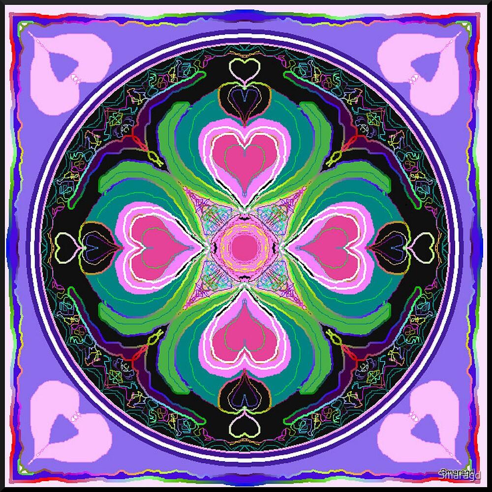 Flourishing hearts kaleidoscope by Smaragd