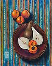 Bosc Pears and Apricots for Elaine by Shani Sohn
