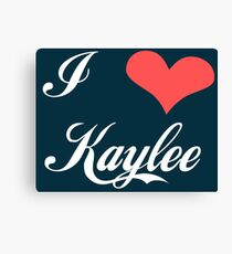Firefly: I Heart Kaylee for Dark Backgrounds Canvas Print