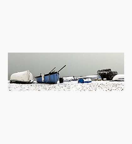 Snow Boats Photographic Print