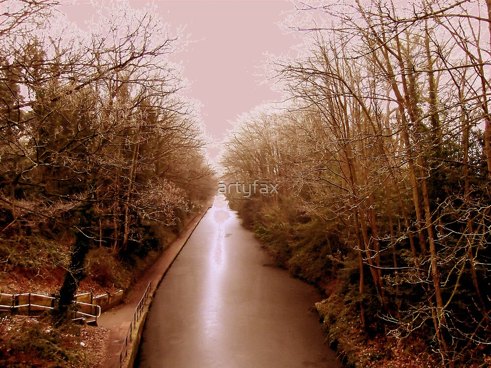 frozen canal, digitally enhanced by artyfax