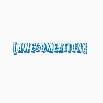 Awesometion Shirt- Blue by Awesomeation