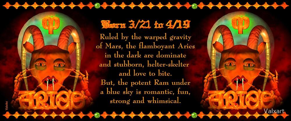 Valxart Gothic Aries zodiac astrology Born 3/21 to 4/19  by Valxart