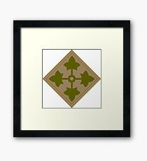 Logo of the Fourth Infantry Division, U. S. Army Framed Print