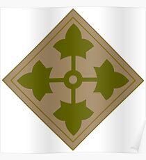 Logo of the Fourth Infantry Division, U. S. Army Poster