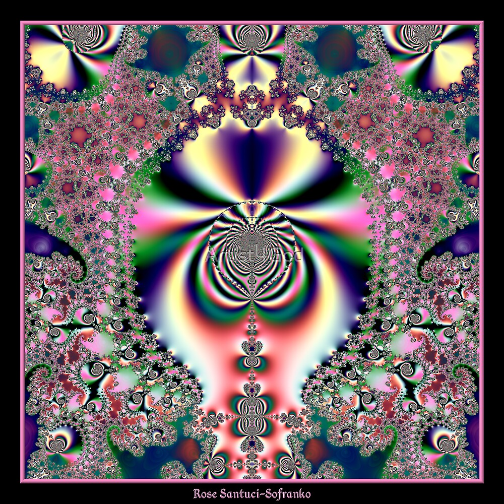 Psychedelic Dreams Fractal by Rose Santuci-Sofranko