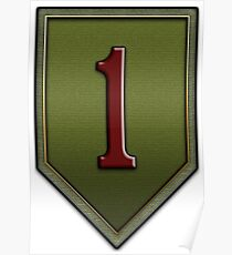 1st Infantry Division Logo - United States Army Poster