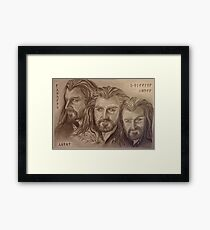 Thorin Oakenshield, a willing heart... Framed Print