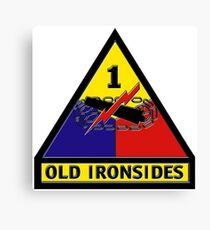 First Armored Division Logo Canvas Print