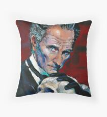 Peter Cushing - Baron Frankenstein Throw Pillow