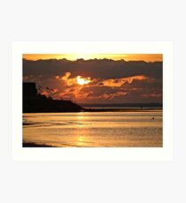 Sunset at Grand Barachois Art Print