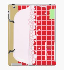 red bathroom iPad Case/Skin