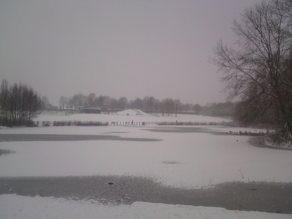 Snowy Sunday by JulieB195
