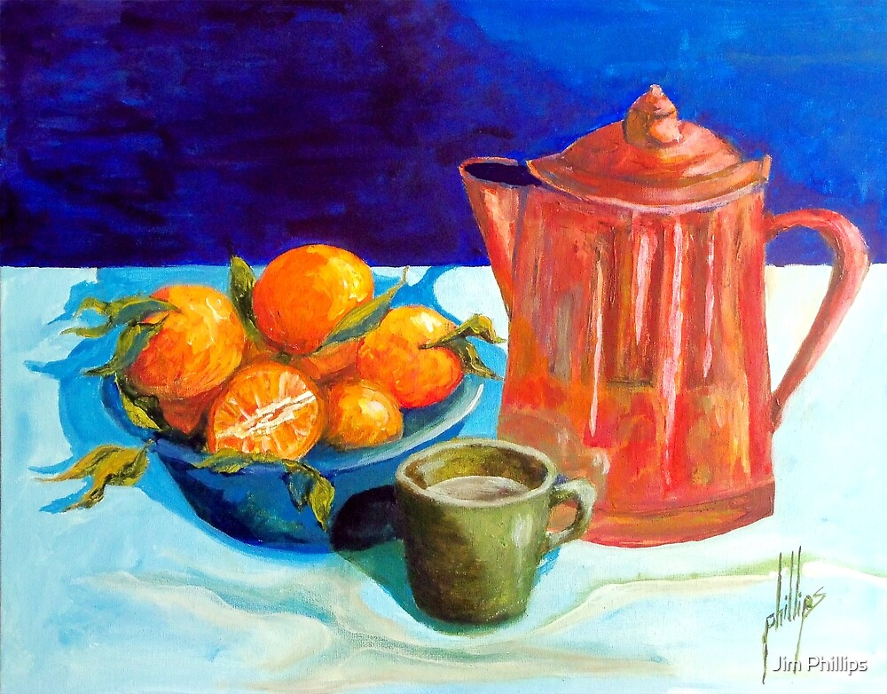 Fresh Fruit and Coffee by Jim Phillips