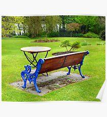 An Irish Country House Garden Poster