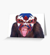lucha monkey 2 Greeting Card