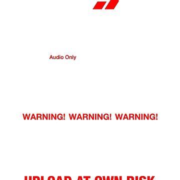 Dixie Flatline Warning Label by WolfeCreative